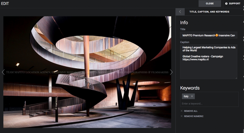 Wooden Interior staircase location MAPITO